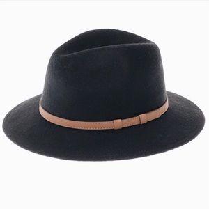 Accessories - NEW! Wide Brim Black Panama Hat Vegan Leather Belt